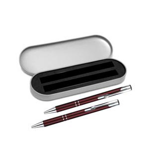 Kit caneta e lapiseira metálicas em várias cores com gravação a laser. - Brindes Curitiba
