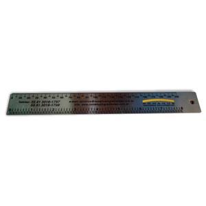 Brindes Curitiba - Reguas em aço escovado com espessura 0,6 mm e gravação em baixo relevo.