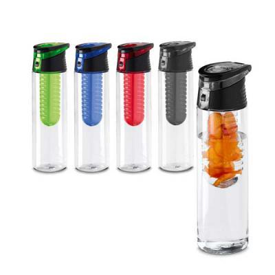 Squeeze. AS e PP. Com infusor de frutas. Capacidade: 740 ml. Food grade. ø70 x 247 mm Produto personalizável - Magia Brindes