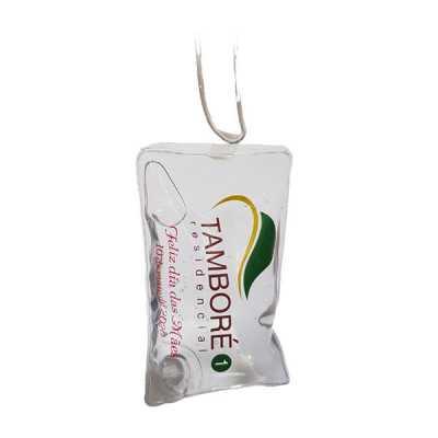 Sachê álcool gel 70% com cordão de silicone