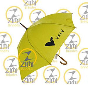 Zimi Brindes - Guarda-chuva, tecido em nylon resinado e cabo curvo em madeira