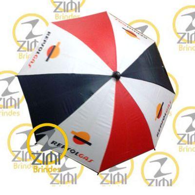 zimi-brindes - Guarda-chuva, cabo central em alumínio, acionamento manual