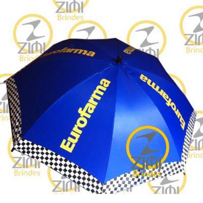 zimi-brindes - Guarda-chuva 1.40m diâmetro – cabo central em alumínio com tecido nylon resinado