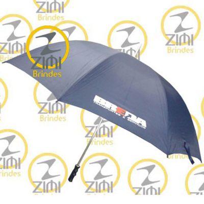Zimi Brindes - Guarda-chuva 1.40m diâmetro – cabo central em alumínio com tecido nylon resinado