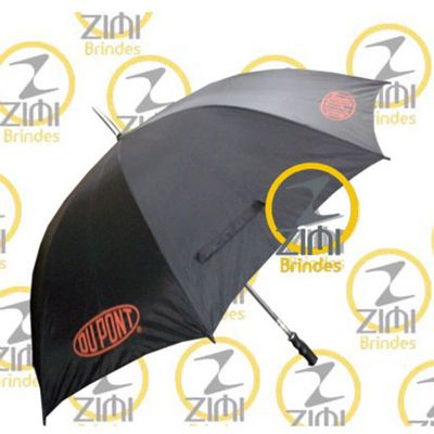 Zimi Brindes - Guarda-chuva 1.40m diâmetro - cabo central em alumínio com tecido nylon resinado