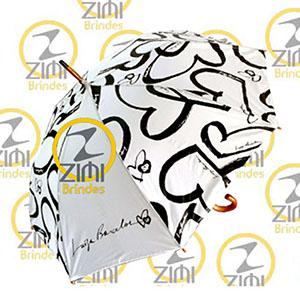 Zimi Brindes - Guarda-chuva 1.20m diâmetro, acionamento automático, tecido nylon resinado