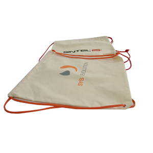 Mochila-saco, confeccionada em lonita de algodão - Zimi Brindes