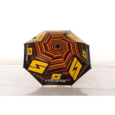 Zimi Brindes - Guarda-chuva de 1.40m para uso na portaria/recepção, cabo em alumínio com tecido nylon resinado e manopla plástica