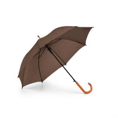 zimi-brindes - Guarda-chuva. Poliéster 190T. Pega em madeira. Abertura automática.