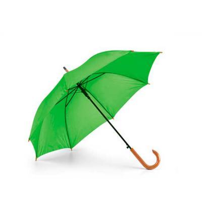 zimi-brindes - Guarda-chuva Poliéster 190T. Pega em madeira. Abertura automática. Sua marca sempre em destaque!