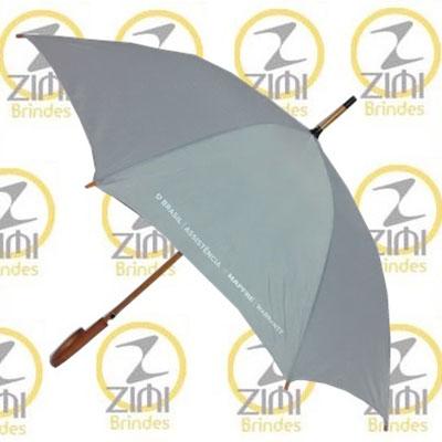 zimi-brindes - Guarda-chuva modelo colonial, 1.20m, cabo curvo em madeira, acionamento automático, tecido nylon resinado, disponível em diversas cores