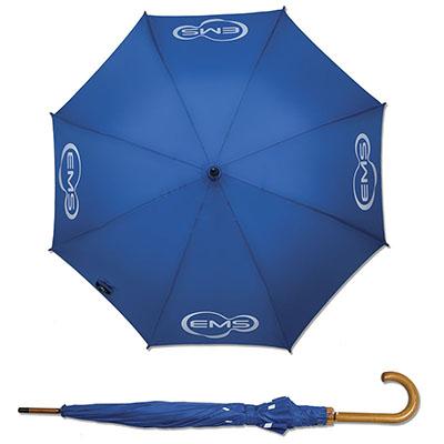 zimi-brindes - Guarda-chuva colonial, 1.20m, cabo curvo em madeira, acionamento automático, tecido diversas opções de cores, uso pessoal