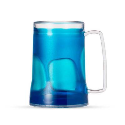 12508 - Caneca Gel 400ml- Caneca acrílica 400ml com gel térmico, congelar apenas de boca para bai...