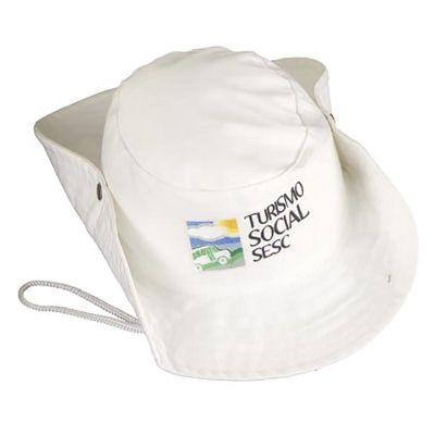 Chapéu australiano confeccionado em tecido brim pesado 100% algodão ... e03a2b7649f