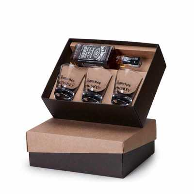 Beetrade Gift - Kit Whiskey 375ml com copos