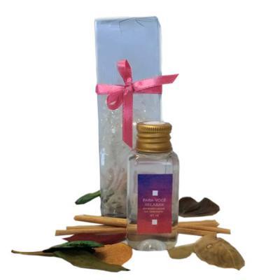 Kit Relax composto por: Caixa para presente Branca    Aromatizador de Ambiente 40ml    Sais de Banho 50 gramas  Sabonete Líquido para as Mãos 40ml Toa... - Beetrade Gift