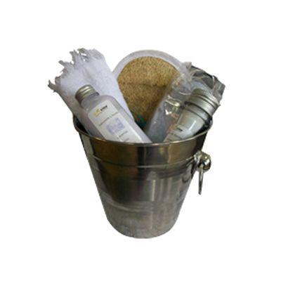beetrade-gift - Kit de banho com sabonete,bucha, toalha e sais de banho.