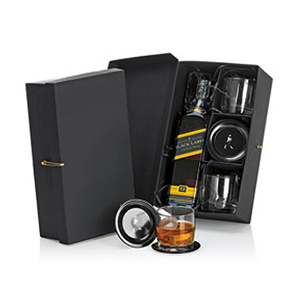 Kit presente com Whisky Johnnie Walker Black Label