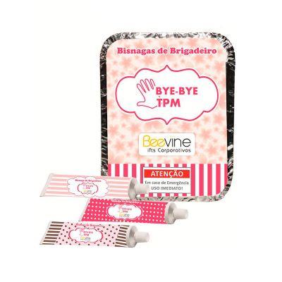 beetrade-gift - Kit brigadeiro composto por: uma marmita, três bisnagas com brigadeiro quatro personalizações