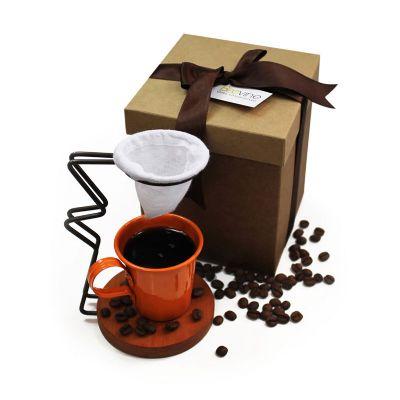 Kit xícara de alumínio e coador