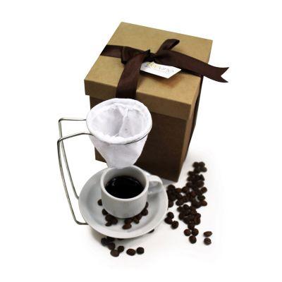 Beetrade Gift - Caixa para presente + 1 Mini Coador reto com xícara de porcelana.
