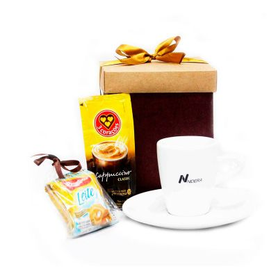 beetrade-gift - Kit Cappuccino em caixa de presente decorada personalizada