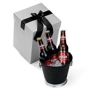 Beetrade Gift - Caixa para presente com 3 garrafas de cerveja Eisenbahn 330ml e geleira de alumínio. Sua marca sempre próxima do cliente!
