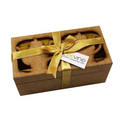 Beetrade Gift - Kit Chá Composto por: 01 caixa em MDF com divisória 05 sachê de chá - sabor diverso Personalização Tag