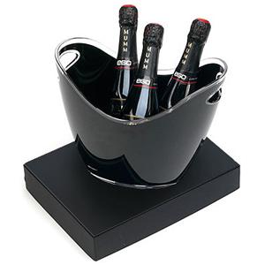 beetrade-gift - Caixa para presente com 3 Espumantes Mumm Brut 250ml e champanheira em acrílico de 3 litros.