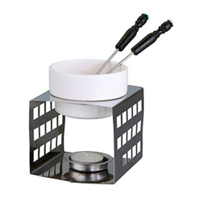 Beetrade Gift - Kit Fondue em cerâmica com: 02 Garfos + Embalagem + Fita e Tag personalizada