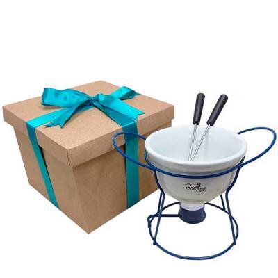 Composição do Kit com fondue e caixa