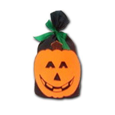 Kit Halloween - Saco em TNT decorado e com 250 gramas de balas variadas.