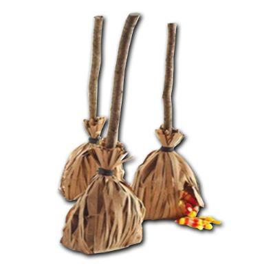 Beetrade Gift - Kit Halloween - Vassourinhas recheadas com balas variadas.