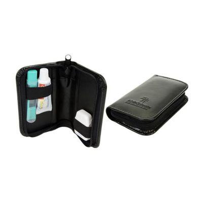 Beetrade Gift - Kit couro sintético com paste de dente, escova e fio dental.