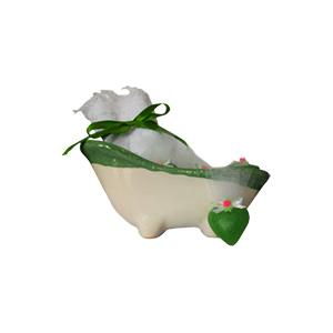 beetrade-gift - Kit dia das mães - Com banheira em porcelana, toalha, mini sabonetes e embalagem.