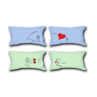 Beetrade Gift - Dia dos Namorados - Duas mini almofadas personalizadas.