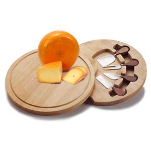 Caixa rígida em MDF com kit corta queijo