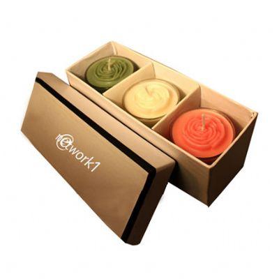 Kit de velas aromáticas contendo 3 copos tulipa de 5,0 de diâmetro x 7,0 de altura, 3 velas aromáticas em formato de flor, 1 caixa de papelão rígido,... - Beetrade Gift