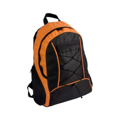 beetrade-gift - Mochila esportiva preta com laranja em nylon 600