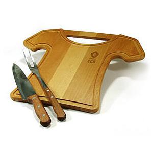 Beetrade Gift - Tábua de madeira com 2 garfos para churrasco.