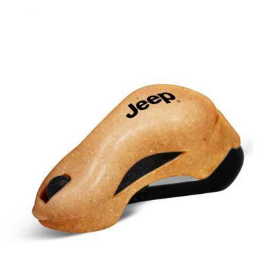 Allury Brindes - Porta Óculos Eco Sustentável personalizado, feito com 50% de Fibra Natural de Coco ou Madeira de reflorestamento, para veículo, fixo no quebra-sol. Id...