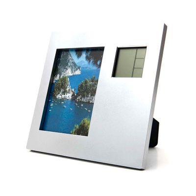 Allury Brindes - Porta retrato com relógio digital