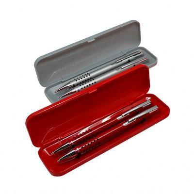allury-gifts - Conjunto estojo caneta e lapiseira de bolinha