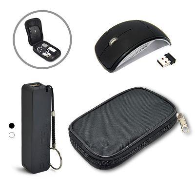 allury-gifts - Kit Presente Portátil Power Bank e Mouse sem Fio