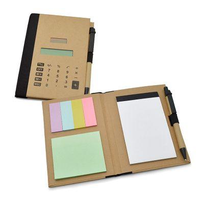 Bloco de anotações com capa calculadora