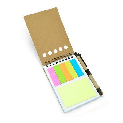 Allury Brindes - Bloco de anotações com sticky notes ecológico