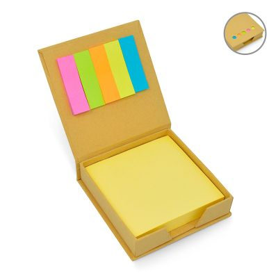 Allury Gifts - Bloco de anotações Eco com sticky notes