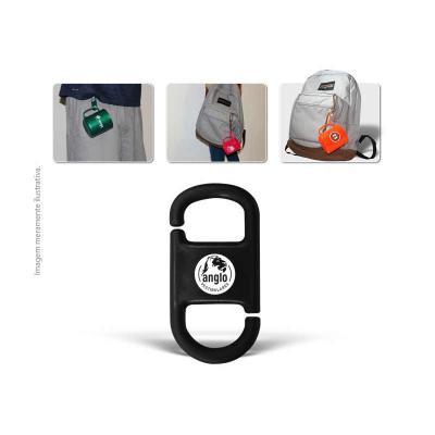 Allury Brindes - Clipe para caneca encaixável personalizado, fabricado em PP com alta resistência. Ideal para fixar em mochilas, cintura, para uso em eventos corporati...