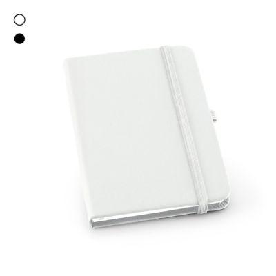 Allury Brindes - Bloco de anotações capa dura com porta esferográfica