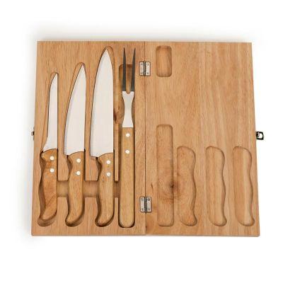 allury-gifts - Kit churrasco com 4 peças e estojo